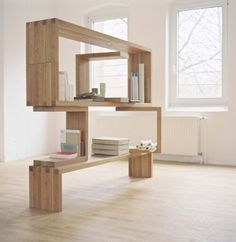 My future bed room book shelf Bookcase Shelves, Shelving, Bookshelves, Diy Interior, Interior Architecture, Style At Home, Cool Furniture, Furniture Design, Furniture Inspiration
