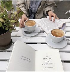 - Book and Coffee Coffee Date, Coffee Break, Morning Coffee, Brown Aesthetic, Cream Aesthetic, Perfect Day, School Photography, Coffee And Books, Mood
