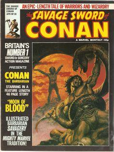 The Savage Sword of Conan. No. 30. U.K. Marvel Comic. Apr. 1980.