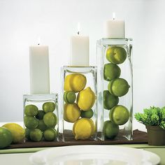 Great idea !  May not necessarily use the upside down vases as a candle pillar…