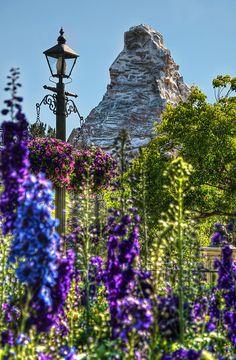 """The Famous Peak"" Fantasyland, Matterhorn #Disneyland from Kevin Crone at www.toursdepartingdaily.com - #toursdepartingdaily #disney"