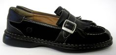Born Women.s Loafers Shoes Size 9 Black Leather Moccasin Style  #Born #LoafersMoccasins