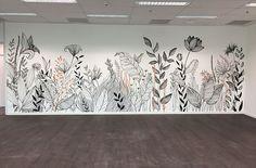 Wall Painting Decor, Mural Wall Art, Bedroom Murals, Wall Drawing, Hand Painted Walls, Girl Bedroom Designs, Paint Designs, Wall Colors, Wall Design