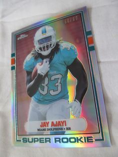 2015 topps chrome #Football card #89-ja jay ajayi 1989 retro ref rookie /99 from $12.89