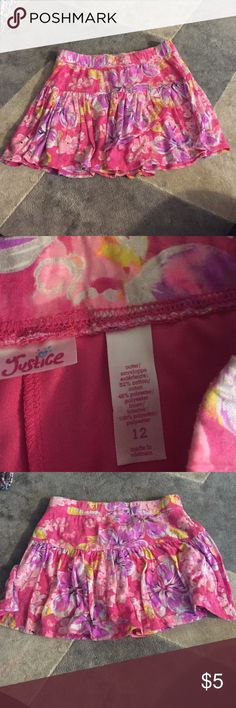 2 Skirts for girls by Justice. Size 12 yes Great condition.  One big s from justice Justice Bottoms
