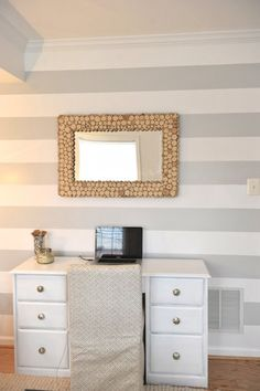 Contrast Two-tone Colors for Painting Walls Ideas: Contrast Two Colors Painting Walls With Horizontal Stripes – Home Improvement   Home Interior Design