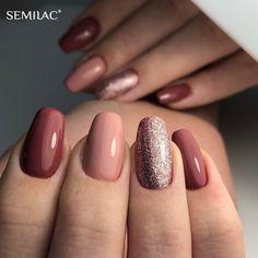 Semilac Magyarország Próbáld ki te is a Semilac professzionális t Nails Rose, Nude Nails, Matte Nails, Acrylic Nails, Short Gel Nails, Gel Nail Art Designs, Dipped Nails, Powder Nails, Stylish Nails