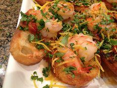 Shrimp Limoncello Crostini