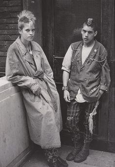Derek Ridgers' London Youth, Leicester Square, 1980