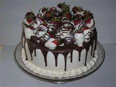 Image Search Results for strawberry chocolate birthday cakes