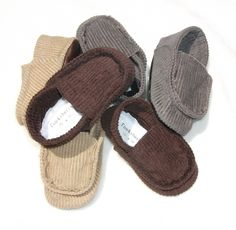Baby shoe Baby Boys shoe gray brown or tan corduroy by Tooksberry, $24.50