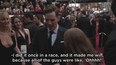 And it really IS a talent, because it's helped him win at life. | Benedict Cumberbatch Might Have The Weirdest Hidden Talent Ever