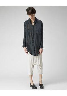 Raquel Allegra Gauze Patch Pocket Shirt
