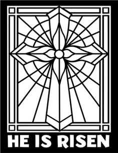 New religious easter art projects stained glass Ideas Stained Glass Patterns Free, Faux Stained Glass, Stained Glass Designs, Stained Glass Projects, Cross Coloring Page, Easter Coloring Pages, Colouring, Easter Art, Easter Crafts