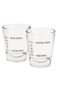Good Idea / Bad Idea Shot Glasses