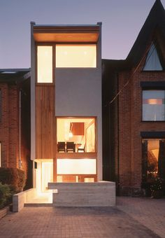 narrow infill house on a 13' wide lot in Toronto, Ontario by architect Drew Mandel