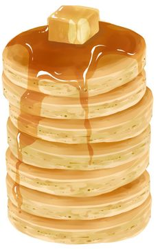 If one must indulge, it is better to eat pancakes than fast food. If pancakes are the worst thing I eat, I'm doing alright. Cute Food, Yummy Food, Pancake Art, Pancake Drawing, Birthday Menu, Food Clipart, Pinterest Instagram, Food Sketch, Food Painting