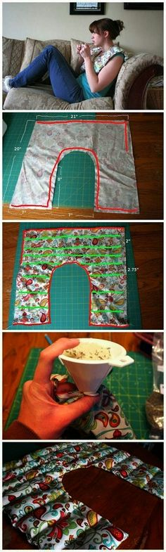 Shoulder rice bag pattern, keeps the rice in the areas you need it!