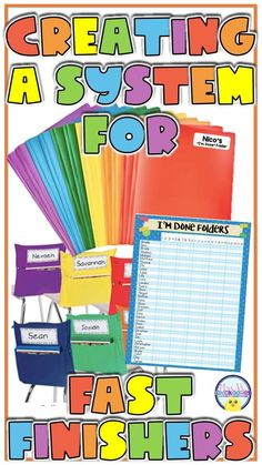 """I found the answer to early finishers! Put an end to the question """"I'm Done, Now What? with academic and differentiated I'm Done Folders. Read all about this tried and true system that works with all grade levels and help you spiral in skills while tending to fast finishers. See how I use no prep printables for key phonics and math skills within these folders Kindergarten Behavior System, 5th Grade Behavior, Kindergarten Classroom Management, Kindergarten Lesson Plans, Kindergarten Activities, Classroom Activities, Classroom Ideas, Preschool, Early Finishers Kindergarten"""