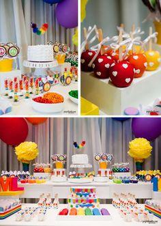 Rainbow Party with So Many Cute deas via Kara's Party Ideas | KarasPartyIdeas.com #RainbowParty #Party #Ideas #Supplies