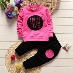 High Five Clothing Set [6M-5T] 24.99 CAD Baby Girl Fashion, Toddler Fashion, Long Sleeve Outfits, Long Sleeve Shirts, Baby Boy Outfits, Kids Outfits, Winter Outfits, Baby Mermaid Outfit, Tracksuit Set