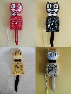 Restored Electric KIT CAT KLOCK / Cat Clock / Felix Clock on Etsy, $180.00