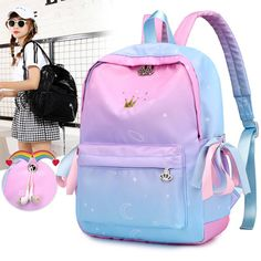 Buy Orthopedic Backpacks School Children Schoolbags For Girls Primary School Book Bag School Bags Printing Backpack Sac Ecolier Pink Cute School Bags, School Bags For Girls, Girls Bags, School Children, Cute Girl Backpacks, School Backpacks, Teen Backpacks, Backpack Bags, Fashion Backpack
