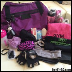 What's in your gym bag? Check out our list of Get Fit Gym Bag Essentials!
