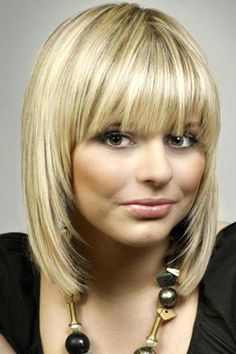 Medium Length Hairstyles With Bangs For Thin Hair - hair lengths Bangs With Medium Hair, Medium Hair Styles, Short Hair Styles, Shoulder Length Hair Cuts With Bangs, Bob With Fringe Fine Hair, Mid Length Hair Styles With Layers, Short Bob With Layers, Short Hair Cuts For Women With Bangs, Blonde Bob With Fringe