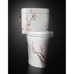 Buy the TOTO Plum Tree Direct. Shop for the TOTO Plum Tree Elongated Bowl Toilet and Tank Less Seat with and a Hand-Painted Plum Tree Design from the Waza Miyabi Series and save. Toilet Art, Toto Toilet, Toilet Bowl, Feng Shui Bathroom, Plum Tree, Dream Bath, Tree Designs, Apartment Therapy, Decoration