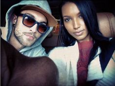 Gorgeous couple -super Models Jasmine Tookes and Tobias Sorensen couple Interacial Love, Interacial Couples, Mixed Couples, Couples In Love, Black Woman White Man, Black Girls, White Boys, Beautiful Love, Beautiful Couple
