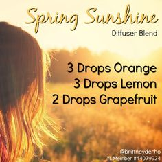 I'm ready for spring to be here already with this citrus essential oil diffuser blend. #diffuser #essentialoils #diffuserblend