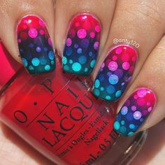 Next gradient up is this gradient pond mani. I wasn't sure how this was going to…