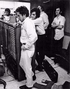 Bob Dylan in studio Self Portrait sessions - Columbia Records' studio in Nashville - 1969