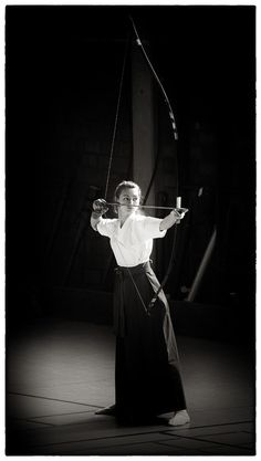 "Kyūdō - literally meaning ""Way of the Bow"" -  is the Japanese martial art of archery."