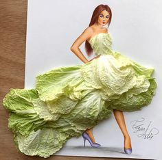 #StPatricksDay Chinese Cabbage Couture! @edgar_artis| Be Inspirational ❥|Mz. Manerz: Being well dressed is a beautiful form of confidence, happiness & politeness