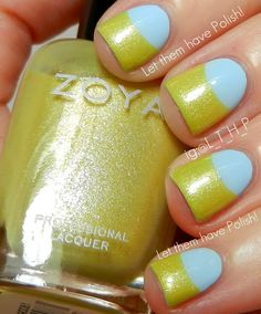 Zoya | Blu and Piaf half moon #nails