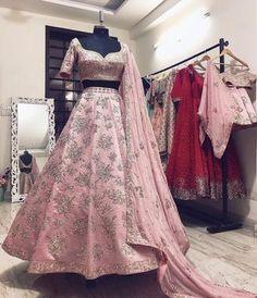 Whatsapp/call : Buy Designer bridal collection of Lehengas - Curomoda- Bridal Lehenga Store Pink Bridal Lehenga, Wedding Lehnga, Designer Bridal Lehenga, Pink Lehenga, Indian Bridal Lehenga, Designer Lehanga, Lengha Dress, Floral Lehenga, Lengha Choli