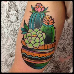 Tilly Dee cacti tattoo