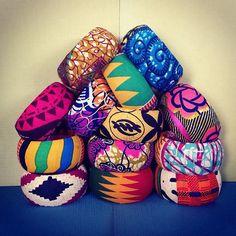 African Wax Print Fabric Bangles