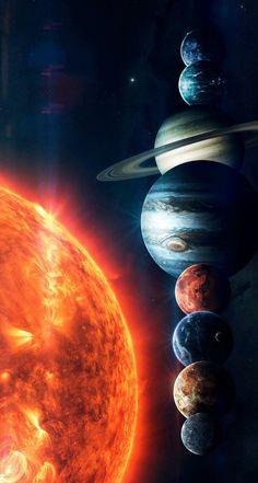 Wallpaper Earth, Planets Wallpaper, Wallpaper Space, Arte Do Sistema Solar, Cosmos, Solar System Wallpaper, Solar System Art, Galaxy Phone Wallpaper, Neutron Star