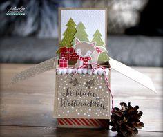 liebste schwester: Pop Up Box Card mit kleinem Füchslein, Crozy Critters, Stampin`Up!, Pop UP Box Card