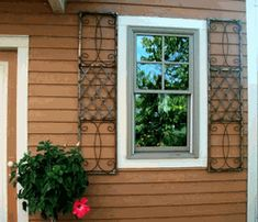 We are making these wrought iron skyview shutters to give homeowners a better option when choose window shutters for there home. This pattern