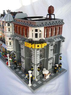 Lego corner shop full of details