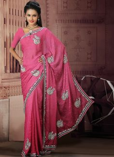 Looking So Beautiful Pink Style #PartyWear #Saree