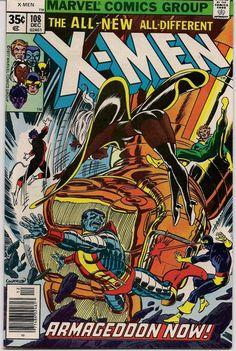 XMEN #108 Bronze Age Comics 1977 First JOHN BYRNE X-Men series Chris Claremont Wolverine Storm Nightcrawler Colossus