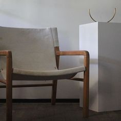 The ARMCHAIR in off-white hide • One of our more luxurious pieces • Our designs are all made-to-order, made by hand and made in limited runs. If you wish to own a piece of furniture by Worn, we are now taking orders for an August/September delivery. All previous shipments have already sold out.
