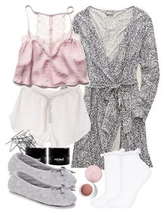 Lydia Inspired Sleepwear by veterization on Polyvore featuring polyvore, fashion, style, Aerie, Free People, Topshop, Isotoner, H&M, Korres and clothing