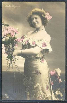 PZ008-ARTIST-STAGE-STAR-VIOLET-WAGNER-Nice-GOWN-Tinted-PHOTO-pc-GG-Co