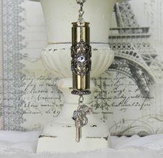 bullet jewelry, bullet necklace Bullet Necklace, Bullet Jewelry, Shotgun Shell Jewelry, 2nd Amendment, Unique Vintage, Vintage Inspired, Shells, Hobbies, Bling